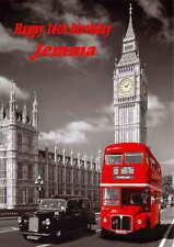 Personalised London  Birthday Card