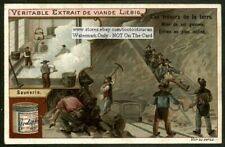 A Working Salt Mine Mine De Sel Gemme 1900 Chromo Trade Ad  Card