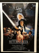 Dave Prowse, Billy Dee Williams And Warwick David Signed Star Wars Photo ROTJ