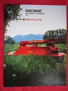 1985 SPERRY NEW HOLLAND 411 DISCBINE DISC MOWER CONDITIONER 8 PAGE BROCHURE
