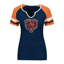 Chicago Bears NFL Women's Notched Neck Logo Graphic T-Shirt Large -  NWT