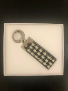 Rare Genuine Porsche Houndstooth PEPITA Key Chain Key Ring FOB