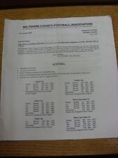 05/06/1992 Wiltshire County Football Association: agenda, rapport annuel, compte