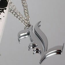 Death Note L Lawliet Monogram Logo Silver Necklace Official Merchandise Jewelry