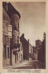France Vezelay - Rue Saint-Pierre old unused sepia postcard