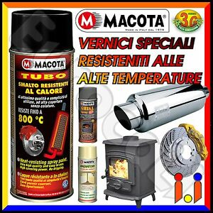 MACOTA Alte Temperature Vernice Spray Pinze Freno Marmitte Tuning Tubo NON COLA?