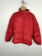 WOMENS MOUNTAIN HARD WEAR RED DOWN FILLED PADDED JACKET PUFFER ZIP UP SIZE S/P