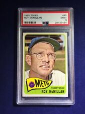 1965 Topps Roy McMillan #45 PSA 9 New York Mets