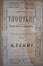 Giuseppe VERDI (Composer): Le Trouvère, First Edition.