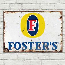 Forster's Beer Lager Metal Plaque Signs Man Cave Pub Club Cafe Vintage Tiki Bar