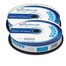 20 Mediarange BDR BD-R DL Blu Ray Double Layer 50GB 270 min 6x cakebox MR507