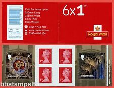 Pm55 2017 6 x 1st Windsor Castle Self Adhesive Booklet