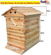 Cedarwood Super Brood Beekeeping Box For 7 PCS Auto Flow Honey Bee Hive Frames