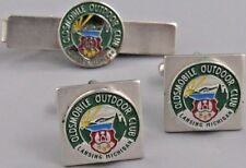 Excellent Mens Olds Mobile Outdoor Club CUFFLINKS Costume Vintage Jewelry N 70