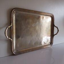 N2212 Plateau métal argenté signature PH Belle époque art déco XXe PN France