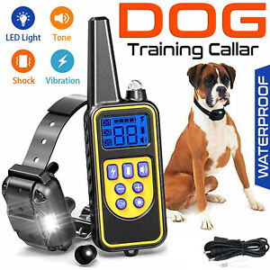 Pet Dog Training Collar Rechargeable Waterproof Electric Shock LCD Display R800m