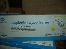 Konica Minolta 2300 1710517-006 Yellow Toner Cartridge High Yield NEW