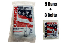 9 Oreck XL XL2 Upright Vacuum Bags Type CC + 3 Belts GENUINE