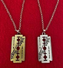 Judas Priest British Steel Necklace and Razor Blade Pendant