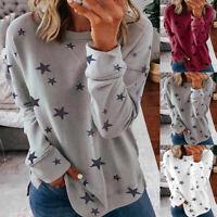 ❤️ Women Star Printed Sweatshirt Ladies Casual Loose Pullover Jumper Tops Blouse