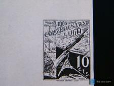 Sello local Guerra civil Lugo Gálvez B538 (prueba en negro) **
