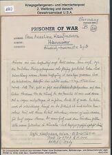 K623) Kriegsgefangenenpost,Brf Neapel Italien 2.11.46 > Hannover