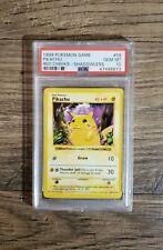 Pokemon PSA 10 Gem Mint Shadowless Red Cheeks Pikachu