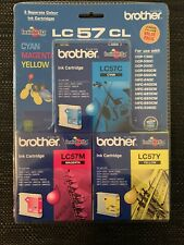 NEW Brother LC57 3Pk Ink Cartridge Value Pack Cyan/Magenta/Yellow Colours