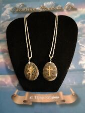 Religious hand made Blackstone grain jewelry necklace women fashion pendant