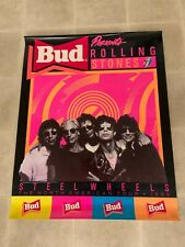 Rolling Stones 19 X 15 Steel Wheels Tour - Budwiser  poster