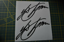 2 STICKERS signature FERDINAND PORSCHE BOXTER CAYMAN 911 991 996 997 TURBO