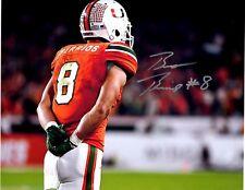 Braxton Berrios Miami Hurricanes Reprinted autographed signed 8x10 photo The U!