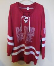 2013 -  BLUE RODEO /  IN OUR NATURE   / REBEL APPAREL / HOCKEY JERSEY. X LARGE.