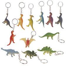 12pcs Porte clé Anneau Plastique Porte Clef Bijou Mode Pendentif Dinosaures