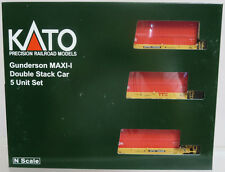 Kato 106-6193 Gunderson MAXI-I Double Stack Car TTX w/ CAI Container N Scale NOS