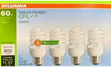 Sylvania 4-Pack 60-W / 13W 5000k Equivalent CFL Natural Daylight Light Bulbs