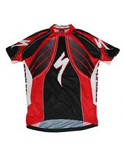 Specialized Men's Black Red Short Sleeve 3/4 Zip Front Cycling Jersey Size XXXL
