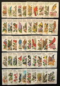 1982 Scott #1953A-2002A - 20¢ - STATE BIRDS & FLOWERS -50 Singles - MNH Full Set