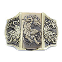 Tiger Lighter Belt Buckle Western Cowboy Native American Motorcyclist (LTR-09)