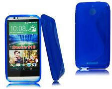 Fundas y carcasas transparente de color principal azul para teléfonos móviles y PDAs HTC