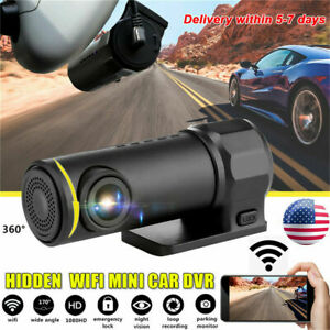 WIFI Mini Dash Cam HD 1080P Car DVR Camera Video Recorder Night Vision G-sensor