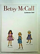Betsy McCall COLLECTOR DOLL Miniature Paper Doll Book Cousins 1998