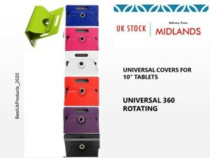 """Huawei MediaPad T5 10.1"""" inch Tablet 360° Case Cover Stand Rotating Universal UK"""