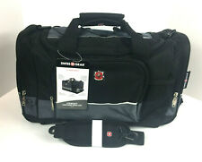 SWISS GEAR Sport Duffel Bag Black with Grey Travel Gym SA9000 New