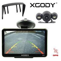 XGODY 5'' Car Truck GPS Navigation Unit Wireless Backup Camera 3D Map BT