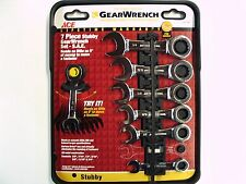 "GEARWRENCH 7PC Stubby Racheting Wrench Set S.A.E. 3/8"" thru 3/4"" - New"