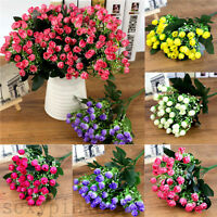 -Floral Home Decoration New Bridal Wedding Silk Flowers Party Bouquet Hydrangea