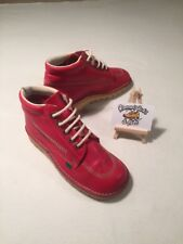 Kickers Red Leather Kick Hi Ladies Lace Boot UK 5 'MOD SKA VINTAGE RETRO'