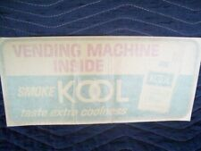 Original Store 50-60's KOOL Cigarettes Double Face Advertising Window Decal Sign