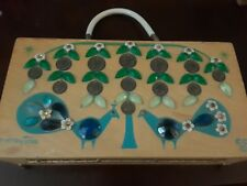 Enid Collins Money Tree Wooden Box Purse Jeweled Original